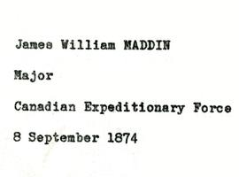 James W. Maddin fonds