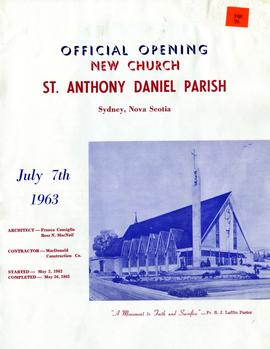 Official opening: new church St. Anthony Daniel Parish, Sydney, Nova Scotia, July 7th, 1963