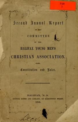 Second annual report of the committee of the Halifax Young Men's Christian Association. Also...