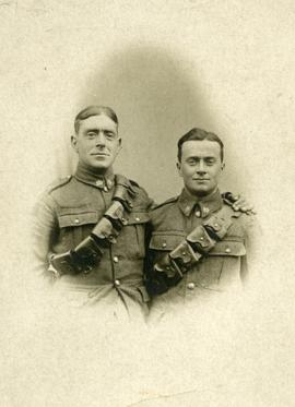 Portrait of two unidentified soldiers