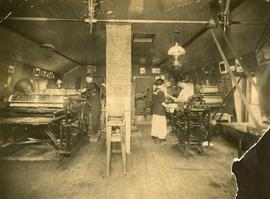 Port Hawkesbury Bulletin printing press