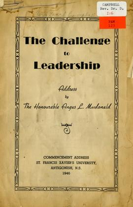 The Challenge to leadership