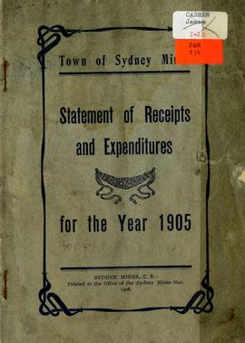 Town of Sydney Mines, Statement of receipts and expenditures for the year 1905