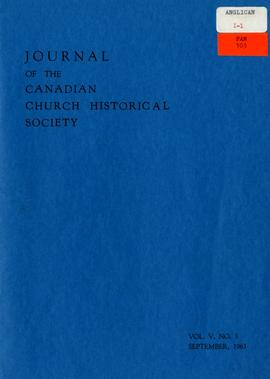 Journal of the Canadian Church Historical Society