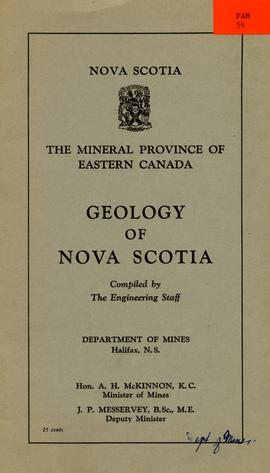 The Mineral province of Eastern Canada; Geology of Nova Scotia