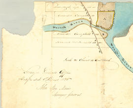 Plan of Land at Mouth of French & Waugh's River
