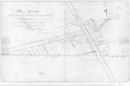 Plan of Town Lots on the Prpoperty of Wm Campbell Esq.
