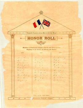 Honor Roll, Immanuel Baptist Church, Truro, NS