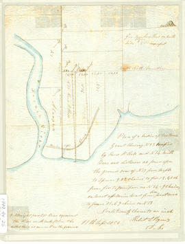 Plan of a Section of DesBarres Grant 1856