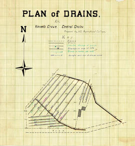Plan of Drains for Kenneth Crowe, Central Onlow