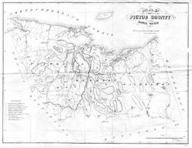 Map of Pictou County, Coal Mining Areas, 1868