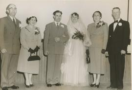 Donald and Norma Hilchie wedding photo, 1954