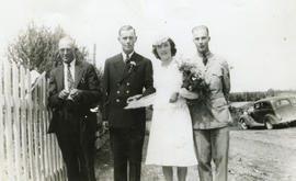 Douglas and Frances (Webber) Robson wedding