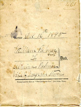 William and Almira Palmer land deed