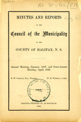 Council of the Municipality of the County of Halifax fonds