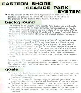 Eastern Shore Seaside Park System Citizen's Representative Committee fonds