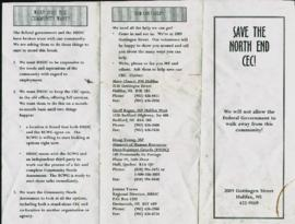 """Save the North End CEC!"" : [pamphlet]"