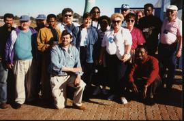 Photograph of Lynn Jones and other election observers