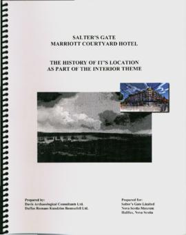 """Salter's Gate, Mariott Courtyard Hotel: The History of its Location as Part of the Int..."