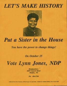Election poster for Lynn Jones