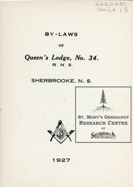 Queen's Lodge No. 34 A.F. & A.M. fonds