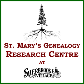 Go to St. Mary's Genealogy Research Centre at Sherbrooke Village